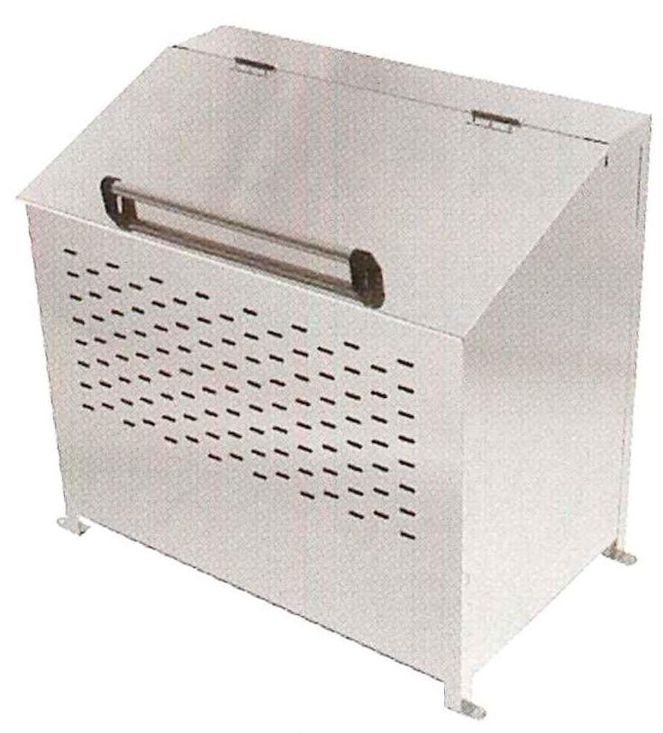 <保証期間付>ステンレス製 大型ゴミ箱 360リットル  DB360L<完成品>