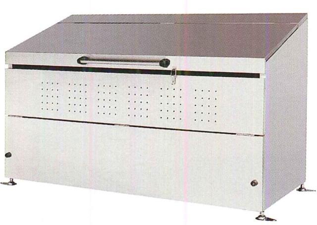 <保証期間付>ステンレス製 大型ゴミ箱 1,000リットル DB1,000L<組立式>