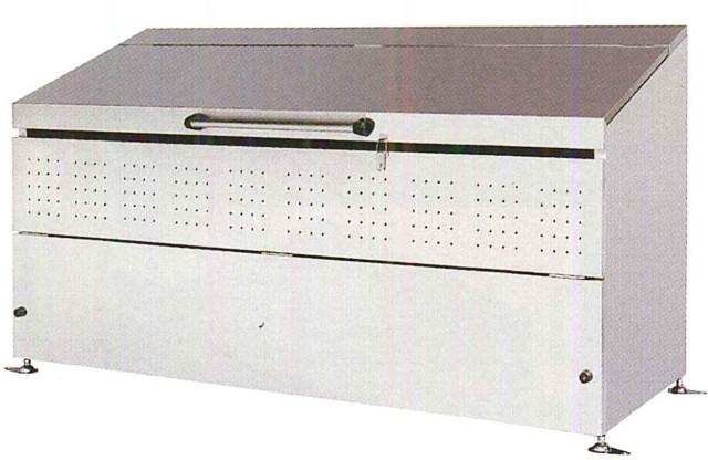 <保証期間付>ステンレス製 大型ゴミ箱 1,200リットル DB1,200L<組立式>