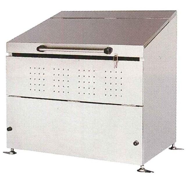 <保証期間付>ステンレス製 大型ゴミ箱 600リットル  DB600L<組立式>