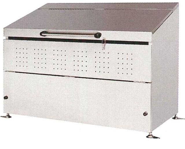 <保証期間付>ステンレス製 大型ゴミ箱 800リットル  DB800L<組立式>