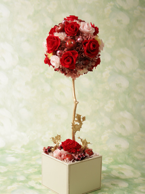 [イタリアンデザイン]flower topiary(RED/L)