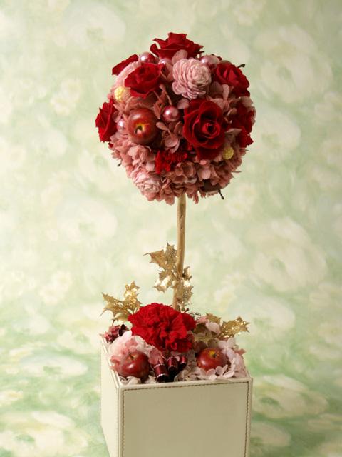 [イタリアンデザイン]flower topiary(RED/s)