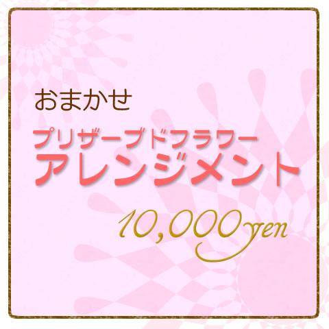 おまかせプリザーブドフラワーアレンジメント10000円