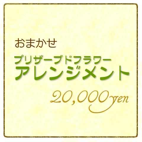 おまかせプリザーブドフラワーアレンジメント20000円