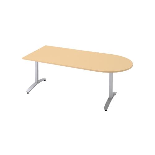 プラス ロンナ(ronna) 標準天板 T字脚 U字形 配線口なし ミーティングテーブル W1500×D750×H720 NN-1507TAU