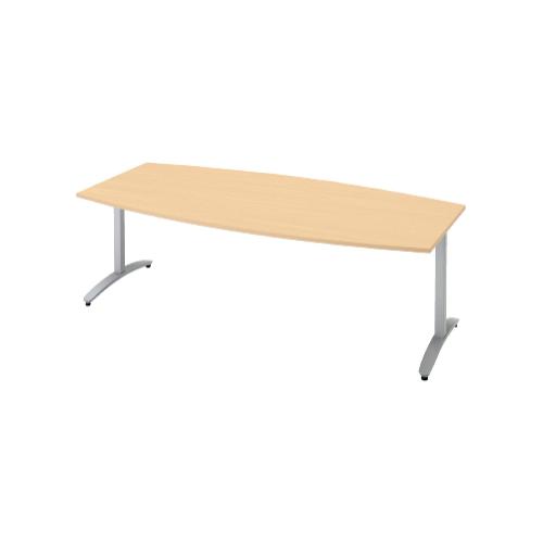 プラス ロンナ(ronna) 標準天板 T字脚 ボート形 配線口なし ミーティングテーブル W2100×D1000×H720 NN-2110TAB