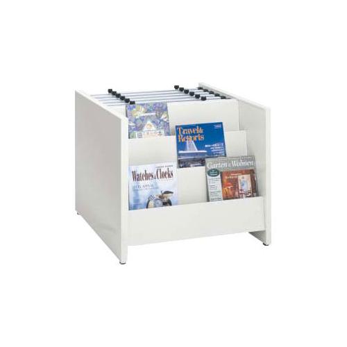 オカムラ 新聞架6紙用・雑誌架コンビ W680×D690×H600 6801JZ-ZA75