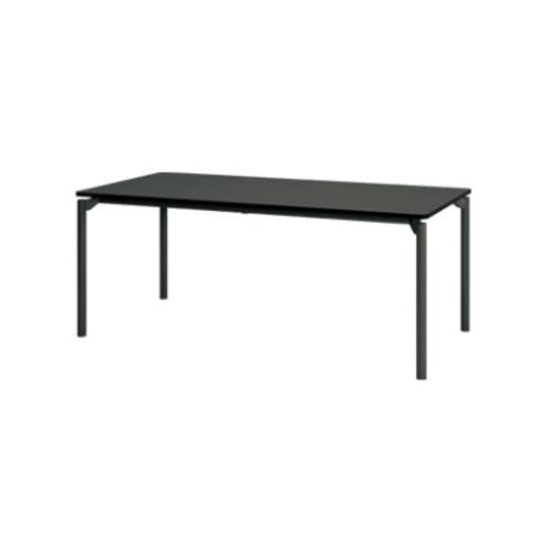 プラス エムゼロテーブル(M0 Table) ミーティングテーブル ブラック脚 W1500×D750×H720 MT-YM1575