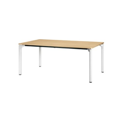 プラス エムゼロテーブル(M0 Table) ミーティングテーブル ホワイト脚 W1200×D750×H720 MT-YM1275