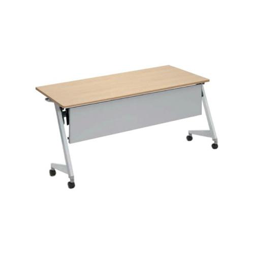 オカムラ フラプターL サイドフォールディングテーブル 棚板付 幕板付 81F2CA-MG99/81F2CA-MK37