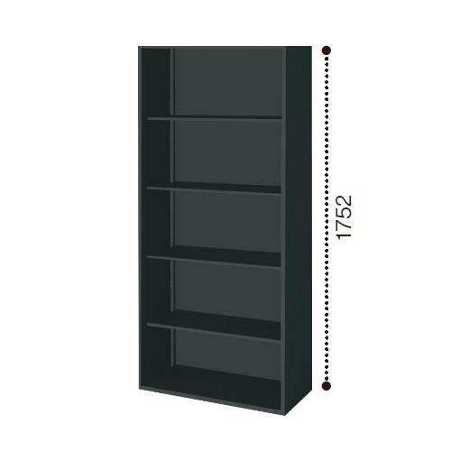 コクヨ エディア ブラックタイプ H1750タイプ オープン 下置き W900×D450×H1750 BWU-K79E6C