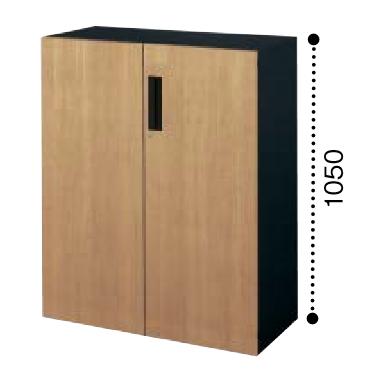 コクヨ KOKUYO エディア EDIA 両開き扉 下置き ベース必要書庫 木目タイプ 本体色ブラック W900×D450×H1050 BWU-SD59F6DP2/BWU-SD59F6DG5