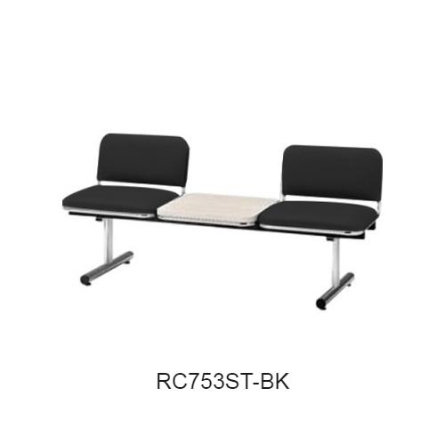 ナイキ ロビーチェア ロビーシリーズ75 2人掛 テーブル付 ビニールレザー張り W1510×D540×H660 RC753ST