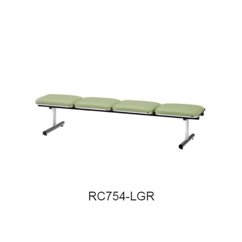 ナイキ ロビーチェア ロビーシリーズ75 4人掛 ビニールレザー張り W2015×D500×H410 RC754