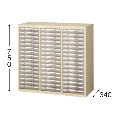 ナイキ パンフレットケース A4タイプ 浅型3列16段 W777×D340×H750mm SMC316S-A4