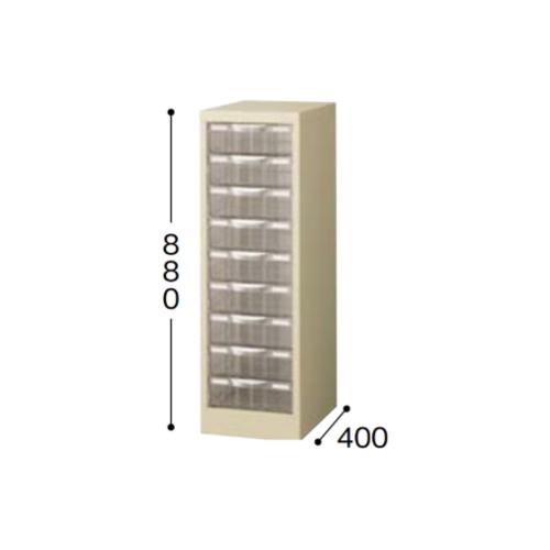 ナイキ パンフレットケース A4タイプ 1列深型9段 W277×D400×H880mm STD109L-A4