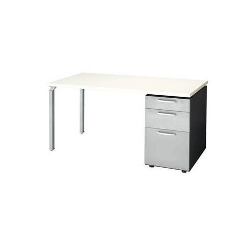 ナイキ ウエイク(テーブルシステムWK型) 片袖テーブル W1400×D700×H700 シリンダー錠 WK147B-SVH/WK147B-SVS