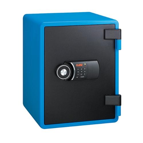 エーコー EIKO YES(イエス.カラーセーフ)シリーズ 耐火金庫 テンキー式/錠無タイプ ブルー/ブラック YES-031DBL