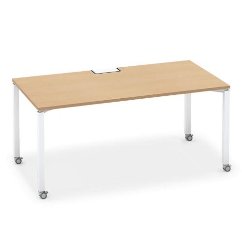 コクヨ KOKUYO オフィスデスク ワークフィット スタンダードテーブル 片面タイプ アジャスター脚/キャスター脚 W1600×D800 SD-WFA168N/SD-WFC168