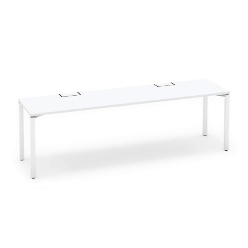 コクヨ KOKUYO オフィスデスク ワークフィット スタンダードテーブル 片面タイプ アジャスター脚 W2400×D600 SD-WFA246