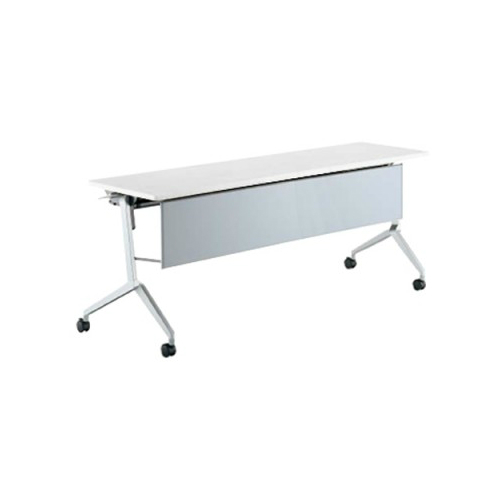 コクヨ KOKUYO ミーティングテーブル リーフライン フラップテーブル  パネル付きタイプ 棚付き W1200×D450×H720mm KT-PS1204