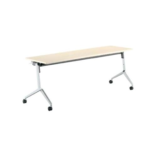 コクヨ KOKUYO ミーティングテーブル リーフライン フラップテーブル  パネルなしタイプ 棚付き W1500×D600×H720mm KT-S1203