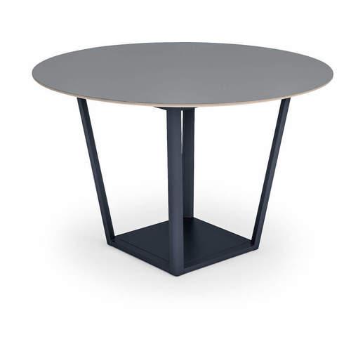 コクヨ ミーティングテーブル リージョン(Region) ボックス脚 円形テーブル/ミドルテーブル/リノリウム天板 LT-RGC12M