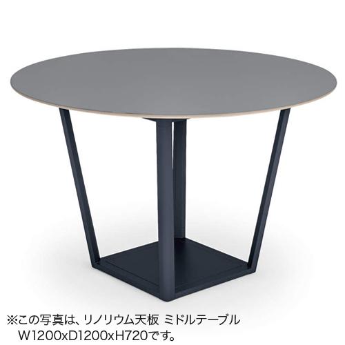 コクヨ ミーティングテーブル リージョン(Region) ボックス脚 円形テーブル/ミドルテーブル/メラミン天板 LT-RGC12M