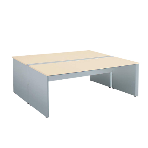 コクヨ KOKUYO WorkVista ワークヴィスタ オフィスデスク 独立テーブル シングル配線カバータイプ D600 両面タイプ ホワイト/フラットシルバー ホワイト/ホワイトナチュラル/ラスティックミディアム/アッシュブラウン W1000×D1200×H720mm SD-VD1012PK