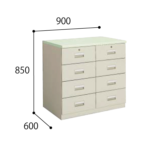 コクヨ 医療施設用家具 ユニット薬品棚 下置きユニット 調剤専用台 W900×D600×H850mm HP-UD8F1N3