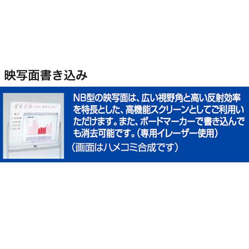 内田洋行 ウチダ UCHIDA 映写機能付オフィスボード ホワイトボード NB-36型・HWA/NB-N 6-191-4000