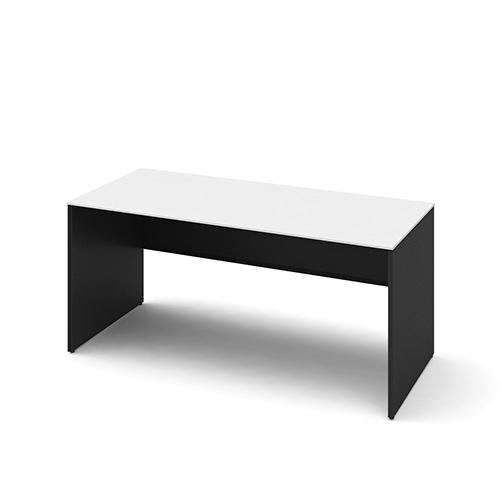 オカムラ ソリストデスク パネル脚 平机 スタンダード 塗装天板 脚:ホワイト/ブラック W1600D700H720 3K2FAB-MHM