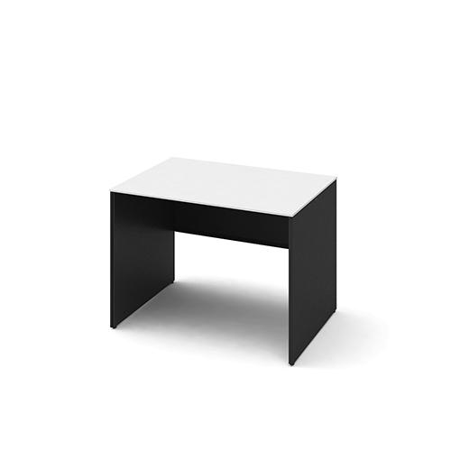 オカムラ ソリストデスク パネル脚 平机 スタンダード 塗装天板 脚:ホワイト/ブラック W1000D700H720 3K2FAF-MHM