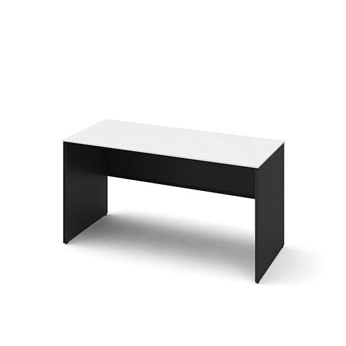 オカムラ ソリストデスク パネル脚 平机 スタンダード 塗装天板 脚:ホワイト/ブラック W1400D600H720 3K2FCD-MHM