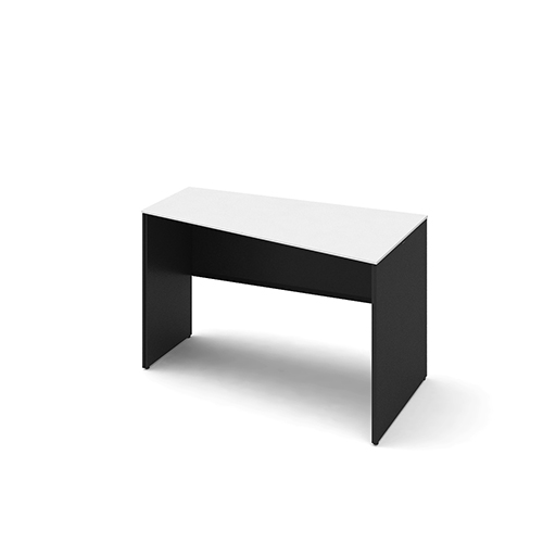 オカムラ ソリストデスク パネル脚 台形塗装天板 ホワイト/ブラック W1200D700H720 3K2FEE-MHM/3K2FHE-MHM