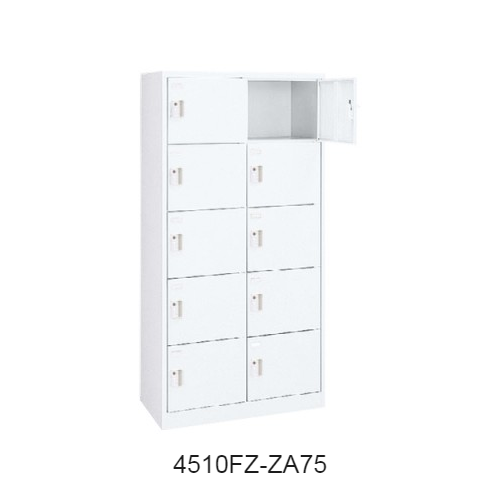 オカムラ FZロッカー(エフゼット)タイプ 10人用ロッカー 2列5段 シリンダー錠 W900×D450×H1790 4510FZ-ZA75