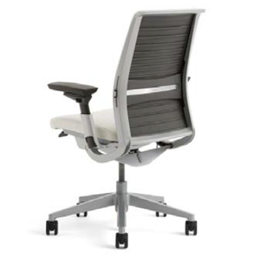 スチールケース Steelcase オフィスチェア Think シンクチェア 背クロス プラチナフレーム 可動ランバーサポート HPD可動肘 5-320-72**