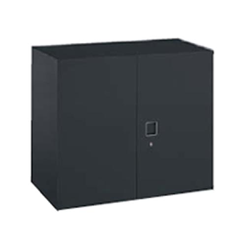 オカムラ okamura レクトライン ブラックタイプ 両開き書庫 上置き・下置き用 W900D450H710  4B31ZF-ZH25