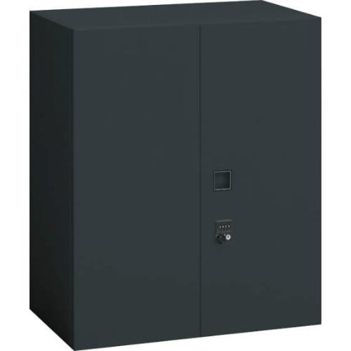 オカムラ レクトライン ブラックタイプ 両開き書庫(ダイヤル錠) 上置き用 W900×D450×H1050 4B33ZH-ZH25