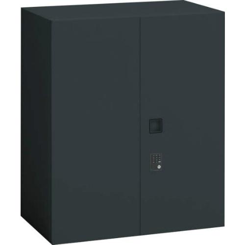 オカムラ レクトライン ブラックタイプ 両開き書庫(プッシュ錠) 上置き用 W900×D450×H1050 4B33ZK-ZH25