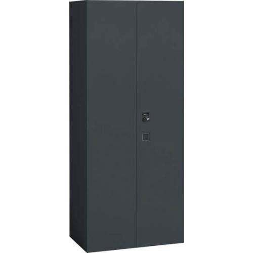 オカムラ レクトライン ブラックタイプ 両開き書庫(ダイヤル錠) 下置き W900×D450×H2100 4B88ZH-ZH25