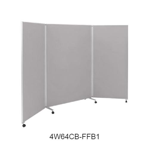 オカムラ スクリーン(衝立) 4W64シリーズ 3連タイプ クロスパネル W800+1200+800×H1800 4W64CB-FF