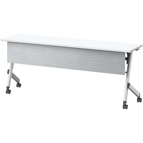 ウチダ プラッテシリーズ 平行スタックテーブル 幕板付 棚板なし W1800×D600×H720 PLT1860M  6-172-1730