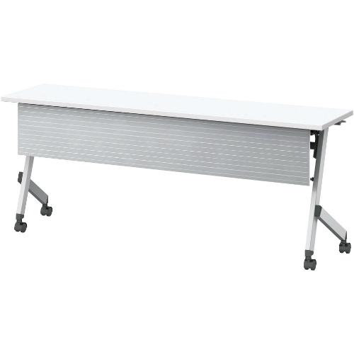 ウチダ プラッテシリーズ 平行スタックテーブル 幕板付 棚板付 W1800×D450×H720 PLT1845MT  6-172-5630