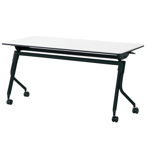 プラス リネロ2 フォールディングテーブル ブラック脚 幕板無し 棚付 LD-520 605-863/605-864/687-233