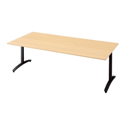 プラス ロンナ(ronna) 標準天板 T字脚 長方形 配線口なし ミーティングテーブル W2100×D1000×H720 NN-2110TAR