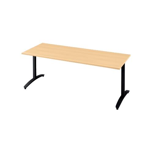 プラス ロンナ(ronna) 標準天板 T字脚 長方形 配線口なし ミーティングテーブル W1800×D750×H720 NN-1807TAR