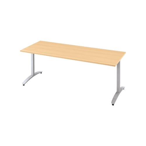 プラス ロンナ(ronna) 標準天板 T字脚 長方形 配線口なし ミーティングテーブル W1200×D900×H720 NN-1209TAR