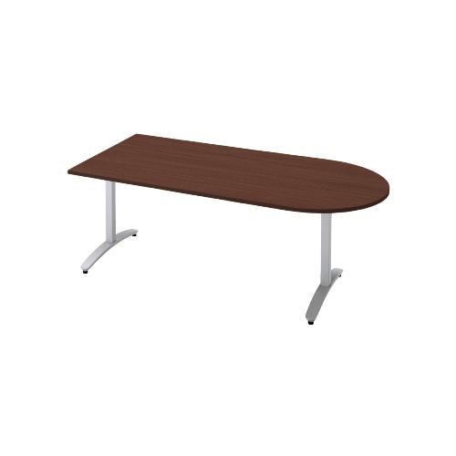 プラス ロンナ(ronna) 標準天板 T字脚 長方形 配線口なし ミーティングテーブル W1800×D900×H720 NN-1809TAU